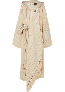 Loewe Paula's Ibiza Oversized Hooded Linen-blend Robe