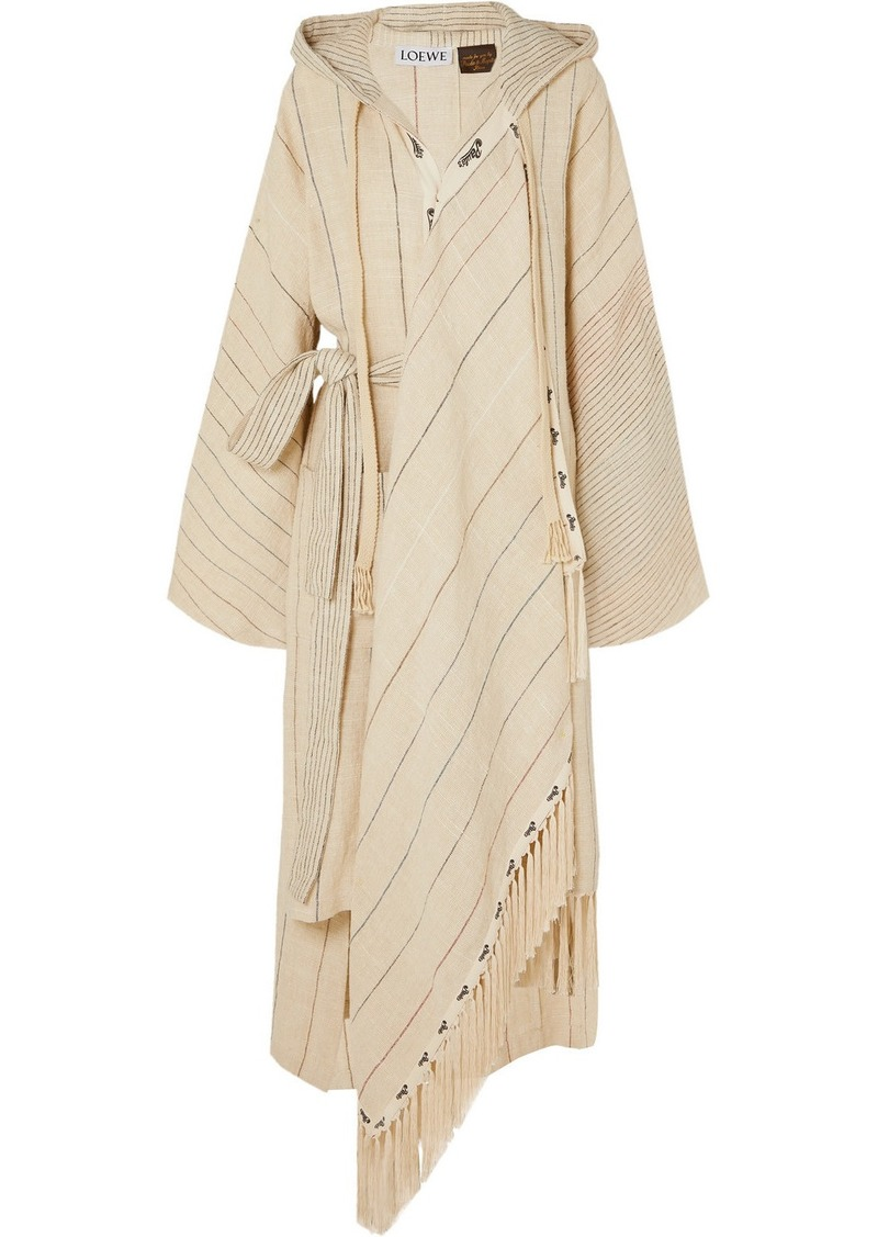 Loewe Paula's Ibiza Oversized Hooded Linen-blend Robe