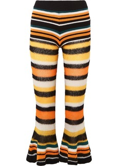 Loewe Paula's Ibiza Striped Knitted Flared Cropped Pants
