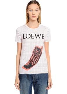 Loewe Phone Printed Cotton Jersey T-shirt