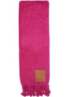 Loewe Pink Logo Patch Blanket