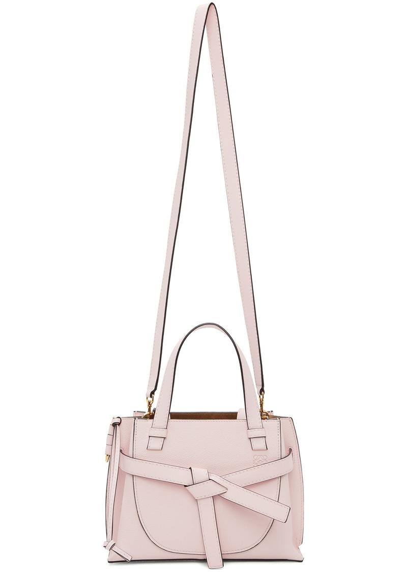Loewe Pink Mini Gate Top Handle Bag