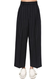 Loewe Pinstripe Straight Leg Cool Wool Pants
