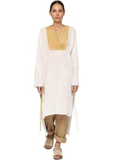 Loewe Poplin Tunic Dress W/ Suede Details
