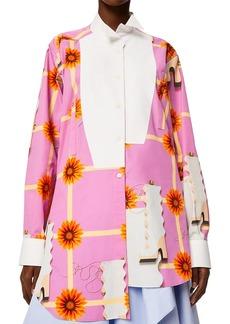 Loewe Printed Long Asymmetric Kimono Shirt
