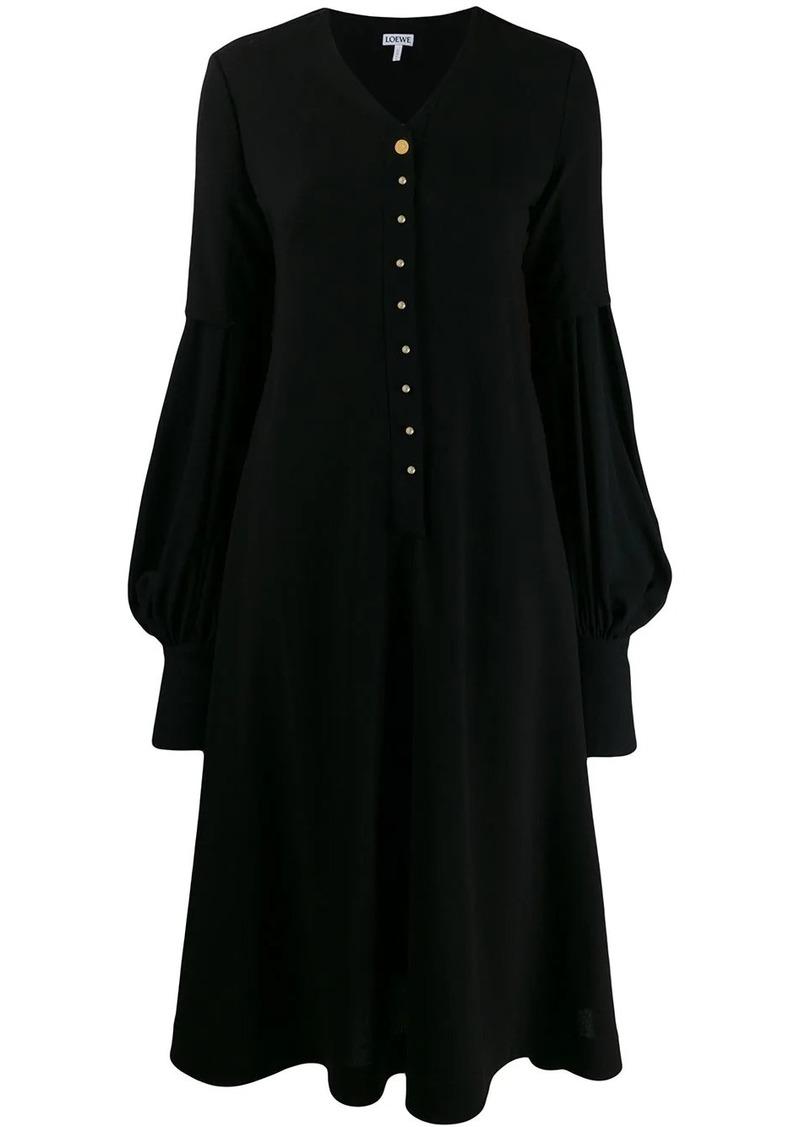 Loewe puffy sleeves flared dress
