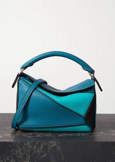 Loewe Puzzle Mini Color-block Textured-leather Shoulder Bag