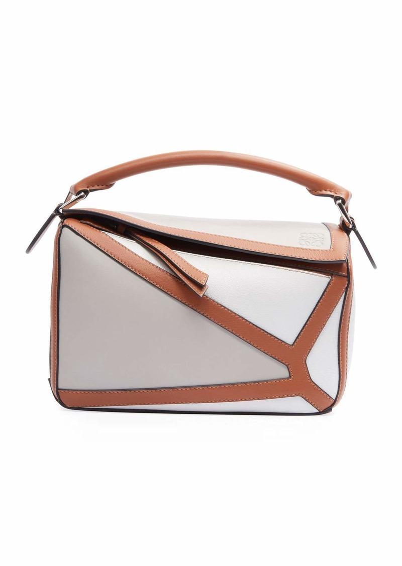 Loewe Puzzle Two-Tone Leather Satchel Bag