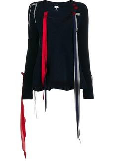 Loewe ribbon detail v-neck jumper