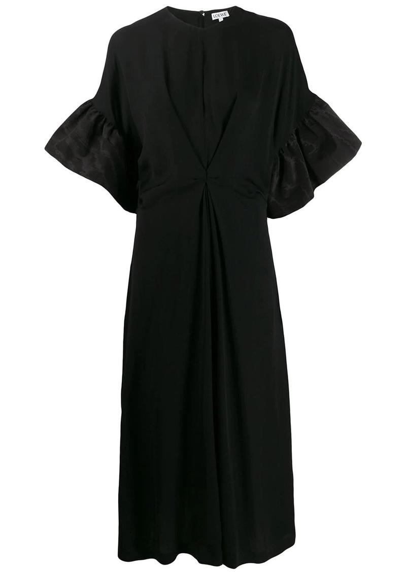 Loewe ruffled sleeves midi dress