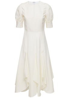 Loewe Silk Blend Asymmetrical Midi Dress