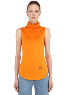 Loewe Silk Blend Jersey Turtleneck Top