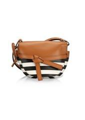 Loewe Small Gate Marine Leather Saddle Bag