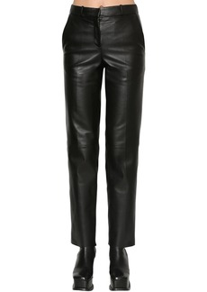 Loewe Straight Leg Leather Pants