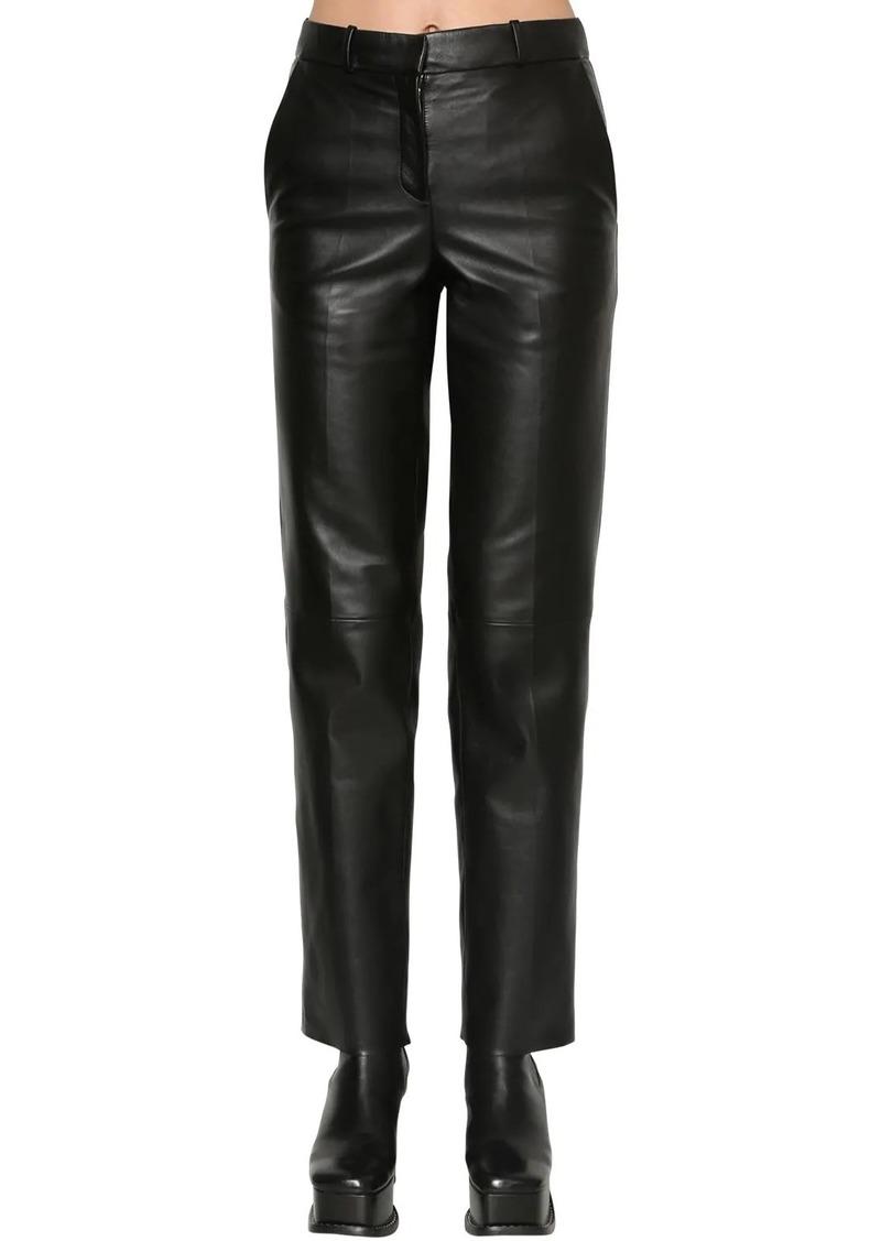 Loewe Straight Leg Leather Pants