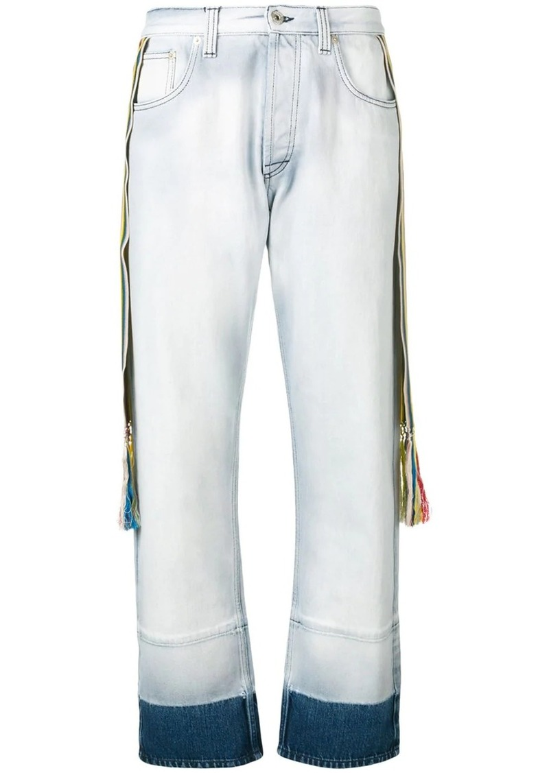 Loewe striped bands straight jeans