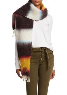 Loewe Striped Mohair & Wool-Blend Scarf