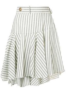 Loewe striped skater skirt