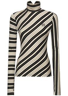 Loewe Striped Stretch Cotton Jersey Top