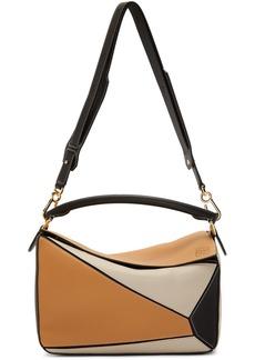 Loewe Tan & Black Puzzle Bag