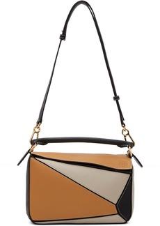 Loewe Tan & Black Small Puzzle Bag