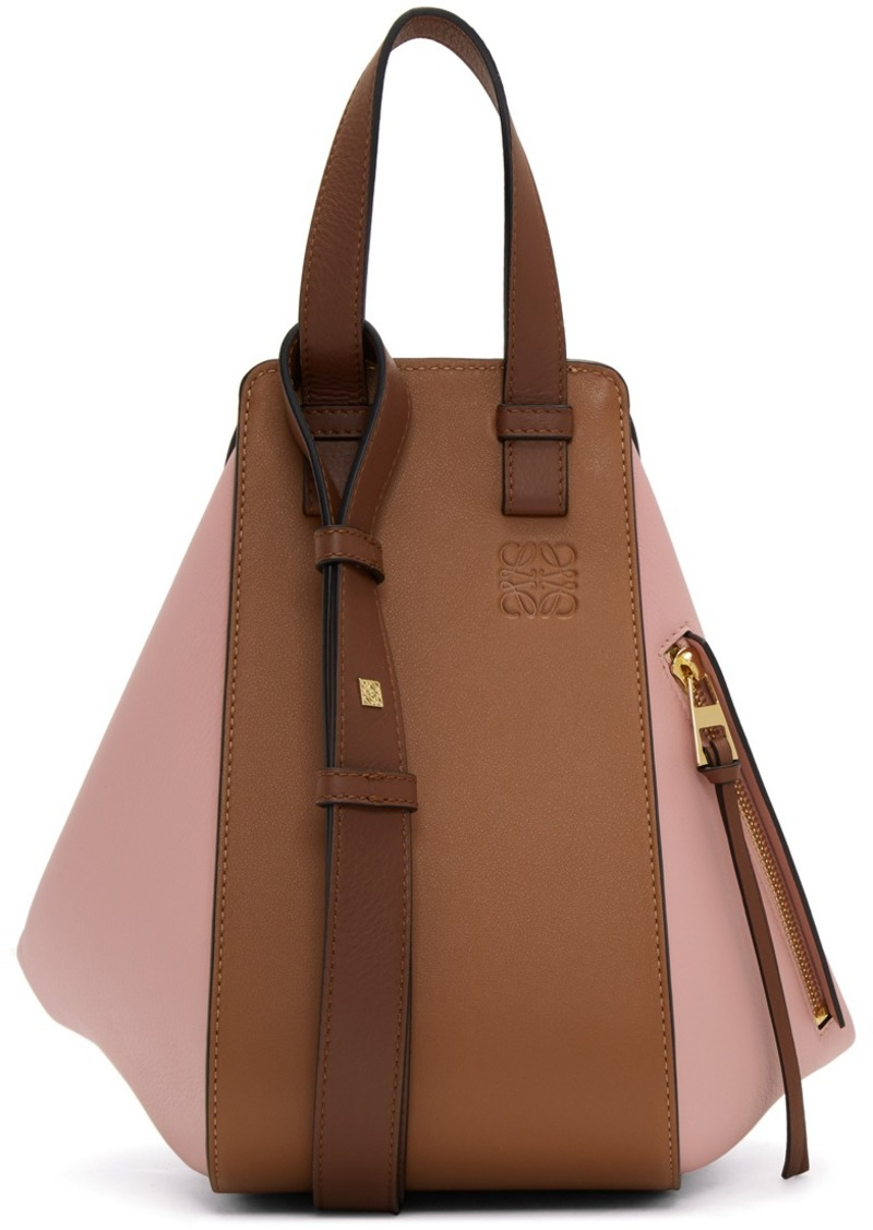 Loewe Tan & Pink Small Hammock Bag