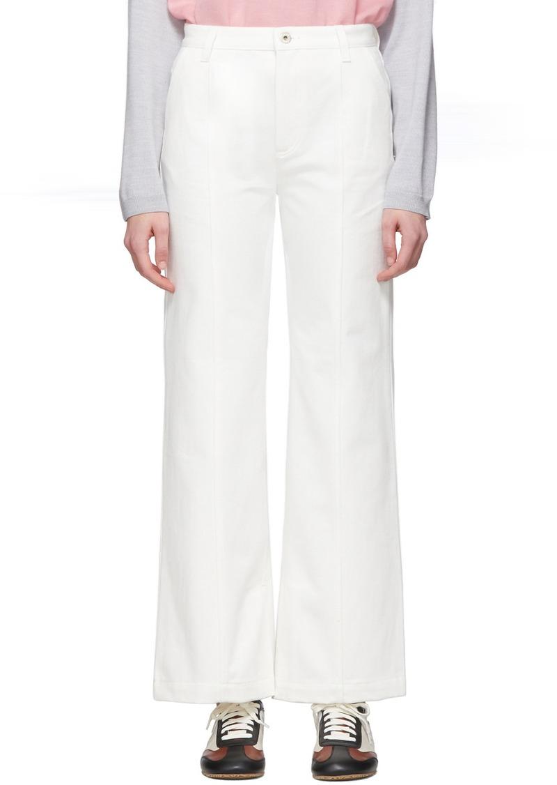Loewe White Denim Slit Trousers