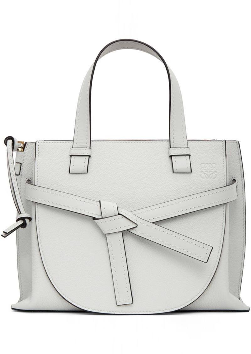 Loewe White Small Gate Top Handle Bag