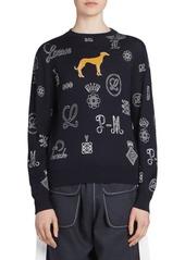 Loewe Wool-Blend Logo & Dog Sweater