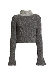 Loewe Wool-Blend Scarf Knit Sweater