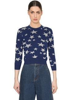 Loewe Wool Knit Sweater W/ Lurex Stars