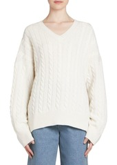 Loewe Wool Oversize Cable-Knit Sweater