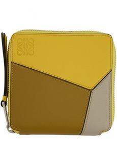 Loewe Yellow Puzzle Square Zip Wallet