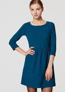 3/4 Sleeve Ottoman Flare Dress