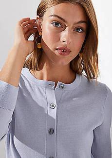 LOFT 3/4 Sleeve Signature Cardigan