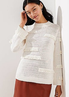 LOFT Abstract Fringe Sweater