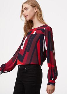 Abstract Split Sleeve Blouse