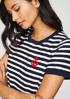 LOFT Anchor Patch Textural Sweater Tee