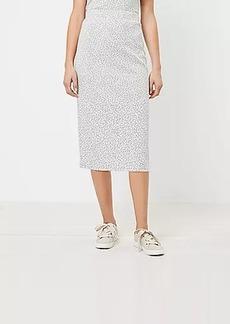 LOFT Animal Print Pull On Midi Skirt