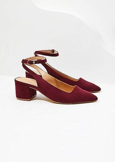 LOFT Ankle Strap Block Heel Pumps