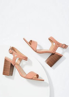 LOFT Ankle Strap Block Heel Sandals