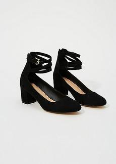 LOFT Ankle Strap Block Heels