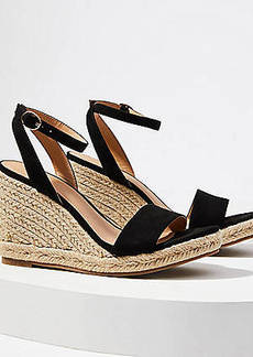 LOFT Ankle Strap Espadrille Wedge Sandals