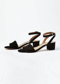 LOFT Ankle Strap Low Block Heel Sandals