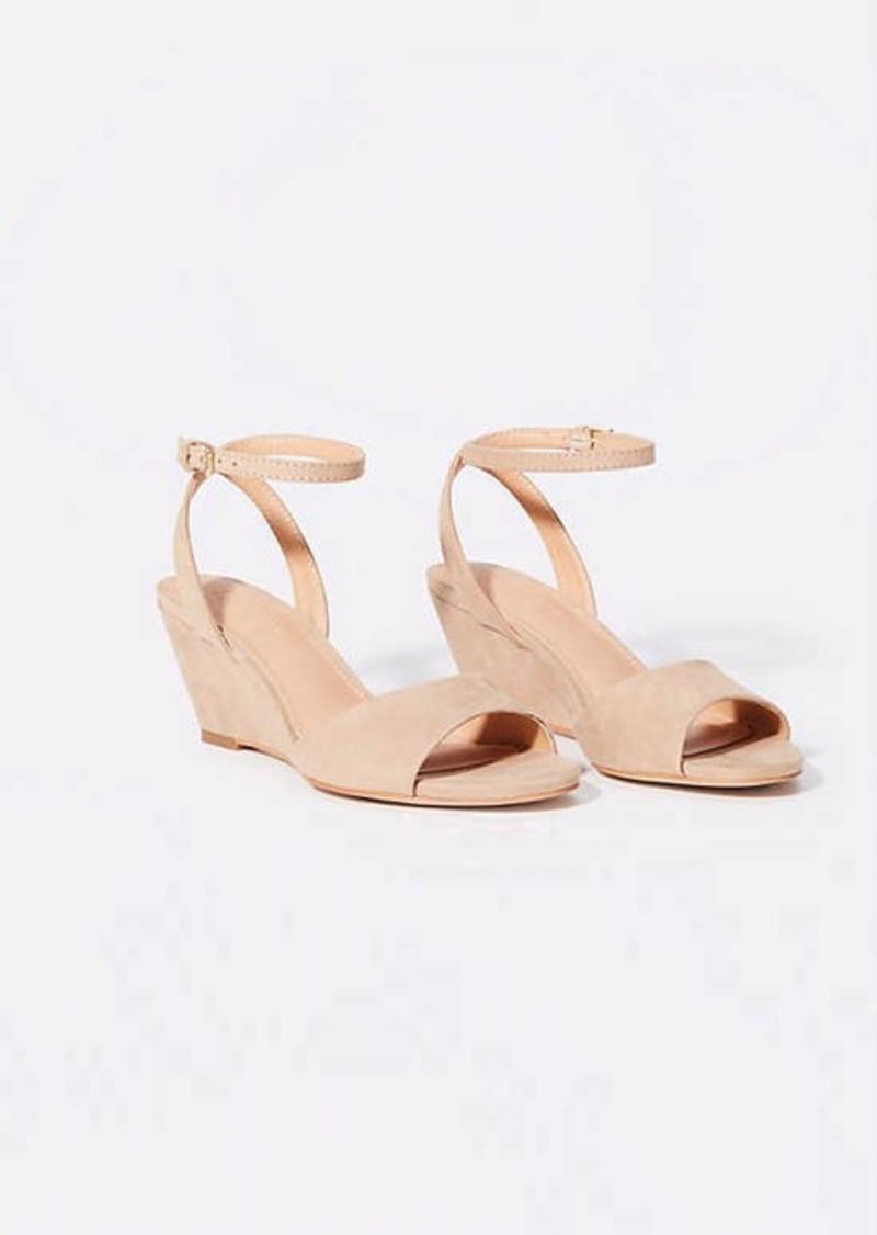 LOFT Ankle Strap Wedge Sandals