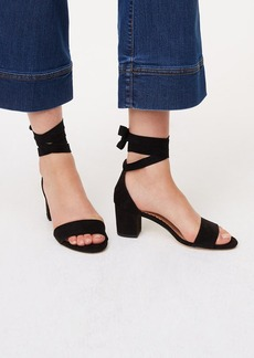 Ankle Wrap Block Heels