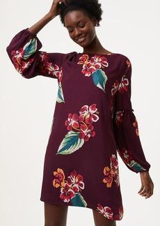 Autumn Luau Ruffle Blouson Dress