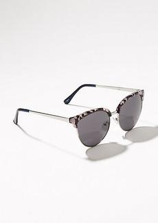 LOFT Aviator Retro Sunglasses