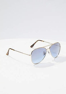 LOFT Aviator Sunglasses