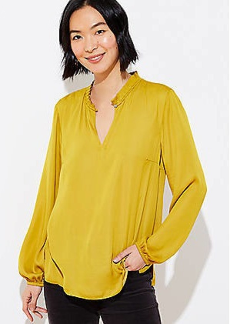 LOFT Back Peplum Blouse
